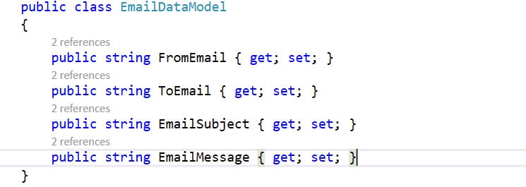 Email Entity Class