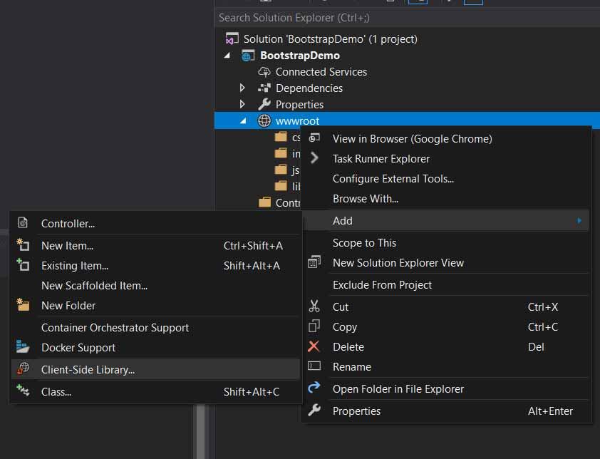 asp.net core add client script